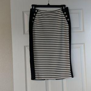 WHBM striped pencil skirt
